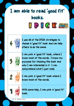 Reading Fluency Strategies- Learning Goals and Scales {Dai