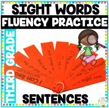 Reading Fluency Strips Third Grade List  {Set 5} Picture S