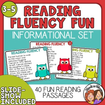 Reading Fluency Task Cards with Informational Text