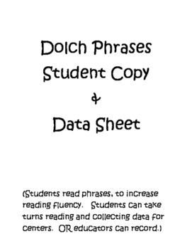 Reading Fluency with Dolch Phrases