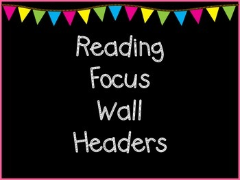 Reading Focus Wall Headers and Title