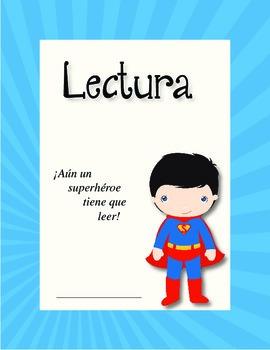 Reading Folder Spanish - Superman & Wonder Woman
