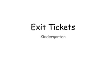 Reading Foundational Skill Exit Tickets