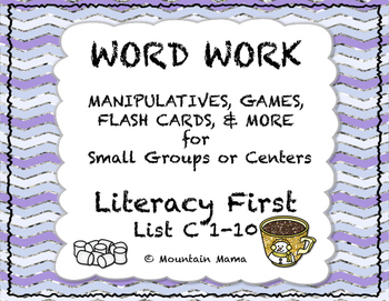 Reading Foundations Word Work Literacy First List C 1-10 G