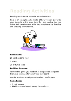 Reading Game