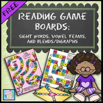 Reading Game Boards (FREE!): Sight Words, Vowel Teams, Ble
