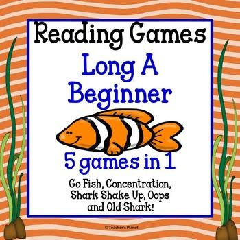 Reading Games - Long A Words Beginner