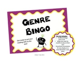 Reading Genre Bingo Game