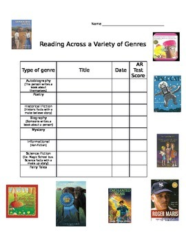 Reading Genre Check off List and Note Taking!