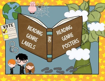 Reading Genre Labels and Posters for the Classroom- Great