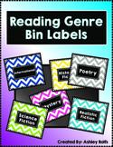 Reading Genre Chevron Library Labels