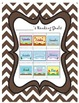 Reading Goal Monthly Incentive Chart Chevron Pattern