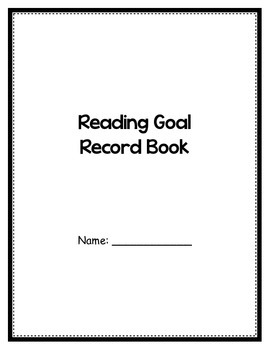 Reading Goal Record Book