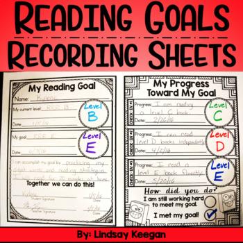 Reading Goals Recording Sheets FREEBIE!