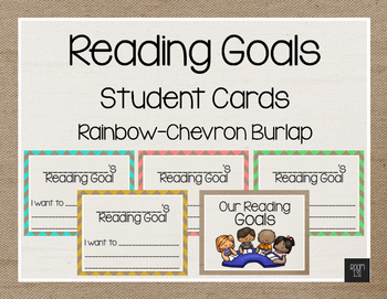 Reading Goals Anchor Charts - Rainbow Chevron Burlap