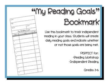 Reading Goals Bookmark