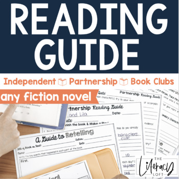 Reading Guide for Independent, Partnership,Book Clubs {any