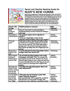 Reading Guide for RUDY'S NEW HUMAN