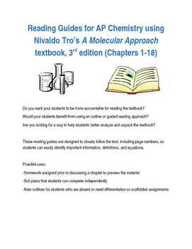 Reading Guides for AP Chem - Tro's A Molecular Approach, 3
