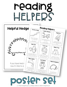 Reading Helpers Poster & Reference Set for Beginning Readers