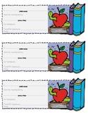 Reading Homework Slip