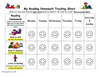 Reading Homework Tracker
