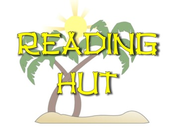 Reading Hut sign- Beach theme