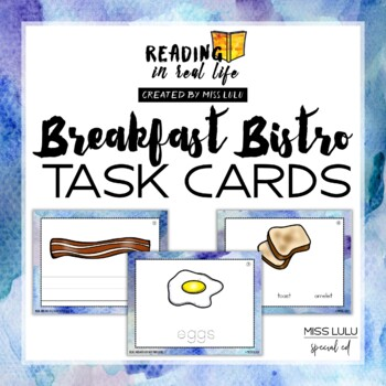 Reading In Real Life Task Cards: Breakfast Bistro