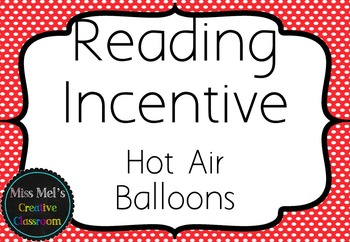 Reading Incentive Hot Air Balloons Display - EDITABLE