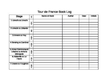 Reading Incentive-Tour De France