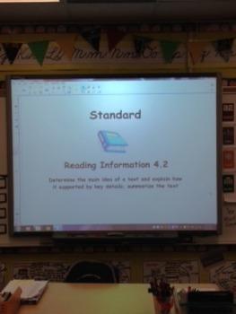 Reading Information 4.2 4th Grade  Smartboard Lesson