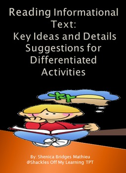 Reading Informational Text: Key Ideas and Details – Differ