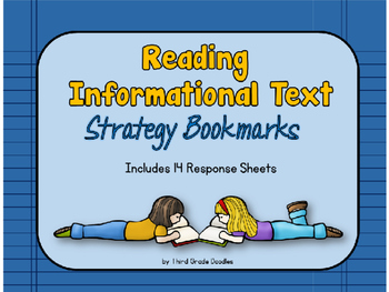 Reading strategies for Informational Text - Bookmarks and
