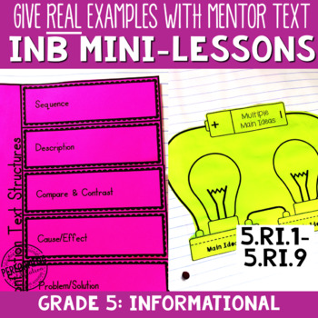 Reading Interactive Notebook with Mini Lessons - 5th Infor