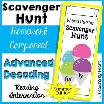 Reading Intervention: Advanced Decoding SCAVENGER HUNT SUMMER