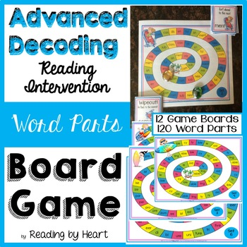 Reading Intervention: Advanced Decoding Word Parts GAME BO
