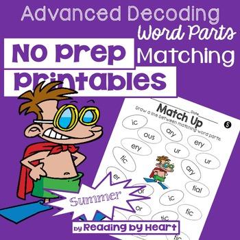 Reading Intervention: Advanced Decoding Word Parts MATCHIN