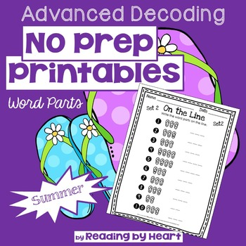 Reading Intervention: Advanced Decoding Word Parts NO PREP