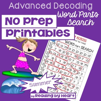 Reading Intervention: Advanced Decoding Word Parts WORD SE