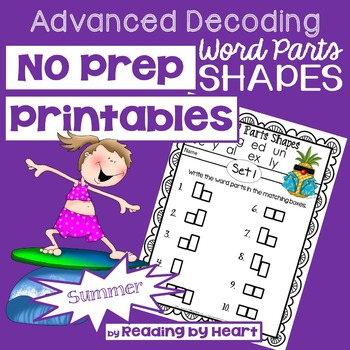 Reading Intervention: Advanced Decoding Word Parts SHAPES