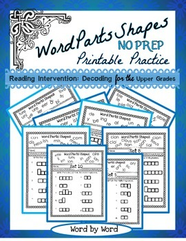 Reading Intervention: Decoding in the Upper Grades Word Pa