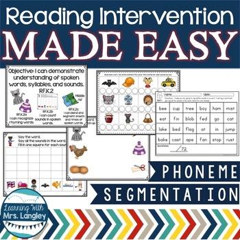Reading Intervention MADE EASY: Phoneme Segmentation
