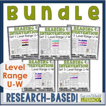 Reading Intervention Program: Level Range U-W Bundle RESEA
