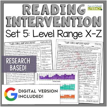 Reading Intervention Program Set Five: Level Ranges X-Z  R