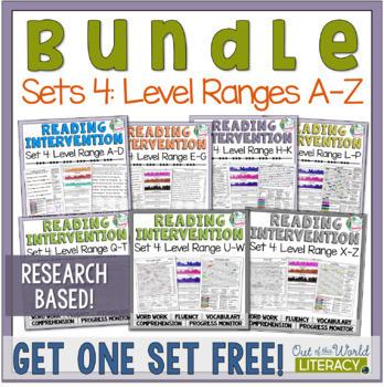 Reading Intervention Program Set Four: Level Ranges A-Z  R