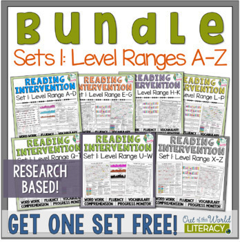 Reading Intervention Program Set One: Level Ranges A-Z RES