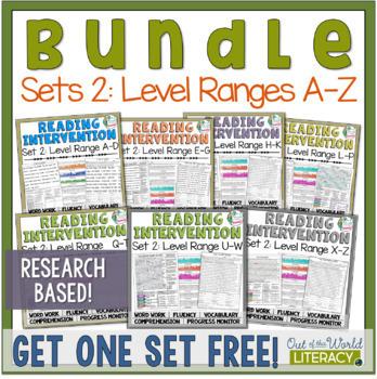 Reading Intervention Program Set Two: Level Ranges A-Z RES