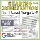 Reading Intervention Program: Set One Level Range L-P RESEARCH BASED!