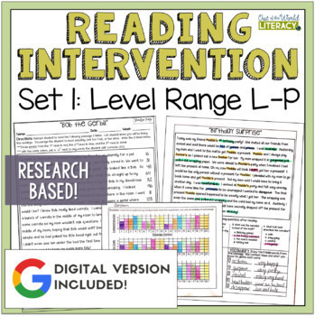 Reading Intervention Program: Set One Level Range L-P RESE