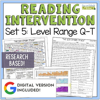 Reading Intervention Program: Set Five Level Range Q-T RES